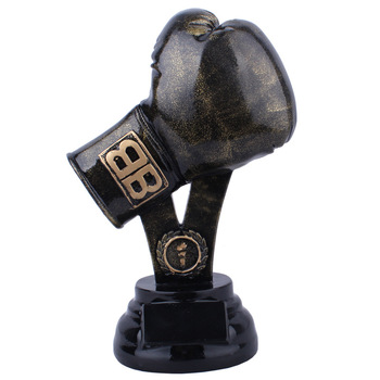Resin Boxing Gloves Model Sports Trophy Ornaments Home Decoration Figurines Crafts Boxing Gloves Miniature Model Desk Decor Gift