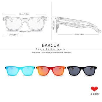 BARCUR Luxury Vintage Wooden Sunglasses  1