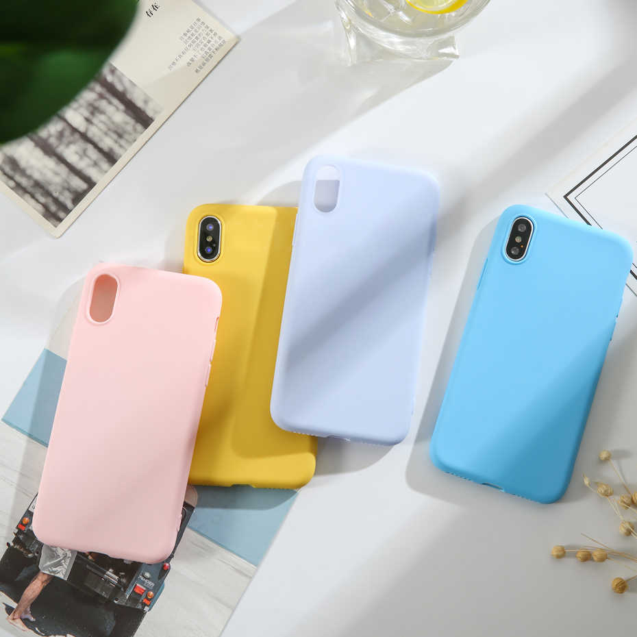 Soft Candy Matte Case for HUAWEI P30 Pro HONOR 10i 20i 10 20 Lite View 20 Colorful Thicken Soft Silicone Rubber Cover