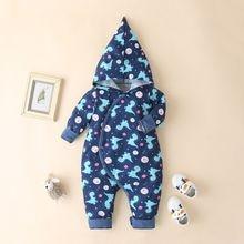 Осенняя зимняя одежда для новорожденных мальчиков хлопковый