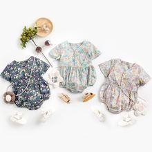 2021 Детский комбинезон для маленьких девочек с цветами новорожденных