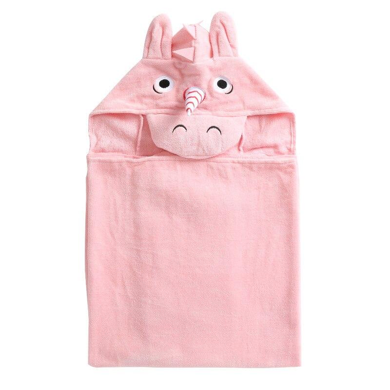 Cartoon Animal Modeling 32 Untwisted Yarn Soft Quick-Dry Hooded Bath Towel For Children Cloak