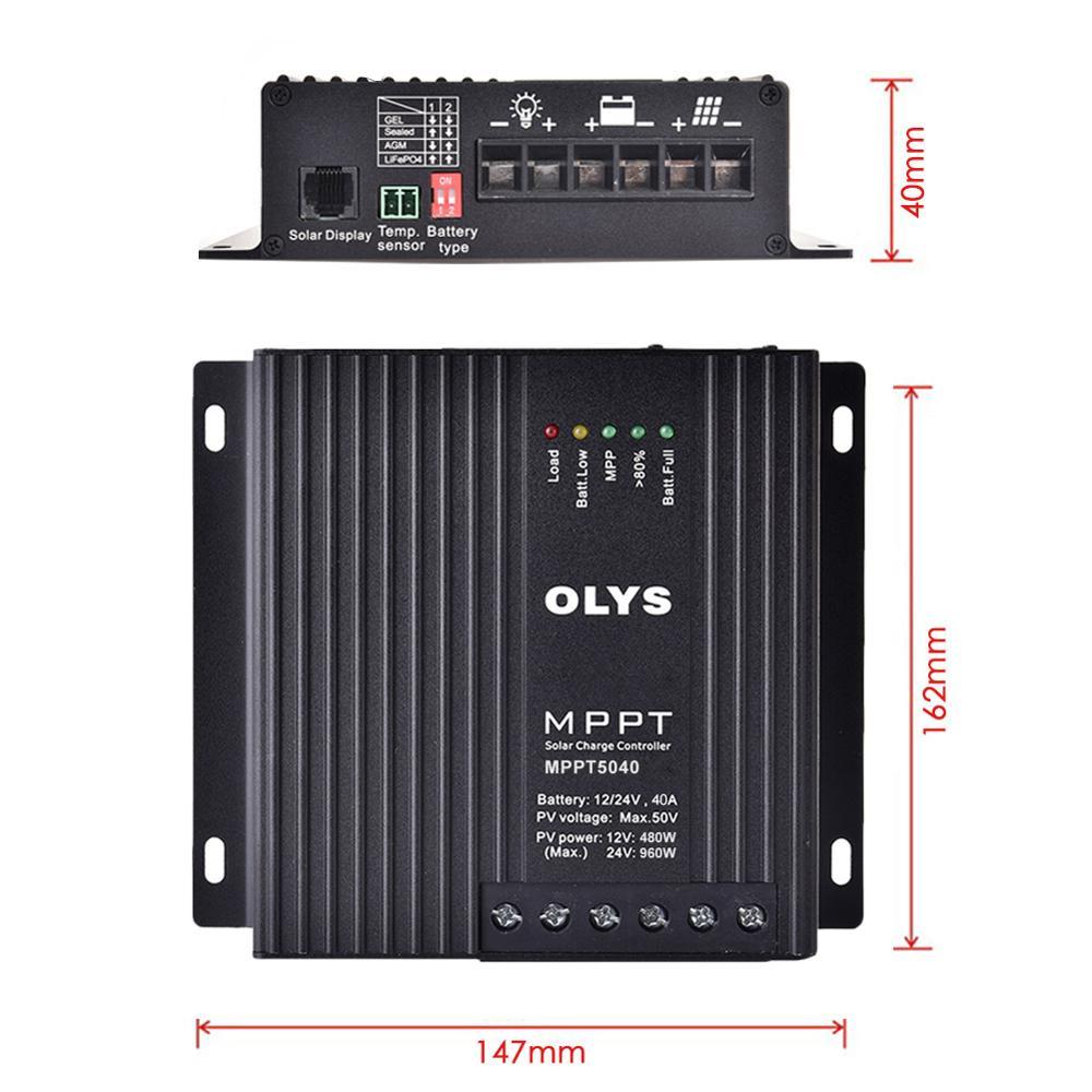 regulador de painel solar carregador de bateria controle remoto 12v 24v 05