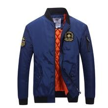 Bomber Male pilot jacket men thermal Tactical Jacket Military Winbreaker Baseball Custom winter blue coat 81779