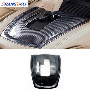 Image 1 - 1Pc 자동차 기어 시프트 노브 스티커 패널 커버 트림 왼쪽 손 드라이브 탄소 섬유 ABS 닛산 X 트레일 T32 불량 2014 2019