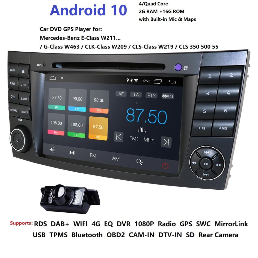 Car DVD Player For Mercedes-Benz E Class W211 W209 W219 2din android Radio Stereo GPS Navigation System obd2 dab rds dtv tpms bt
