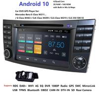 Car DVD Player For Mercedes Benz E Class W211 W209 W219 2din android Radio Stereo GPS Navigation System obd2 dab rds dtv tpms bt