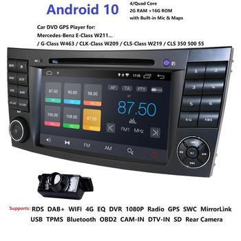 Car DVD Player For Mercedes-Benz E Class W211 W209 W219 2din android Radio Stereo GPS Navigation System obd2 dab rds dtv tpms bt image