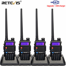 Radio przenośne Walkie Talkie 4 sztuk USB Charge Retevis 5W RT5R 128CH VHF UHF dwuzakresowy Radio dla amatorów Transceiver 2 Way Radio RT 5R
