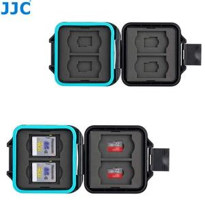 Image 1 - JJC מצלמה זיכרון כרטיס מקרה מחזיק תיבת אחסון ארגונית עבור 4 SD SDHC SDXC 4 מיקרו SD TF כרטיסי עם כרטיס הסרת כלי & שרוך