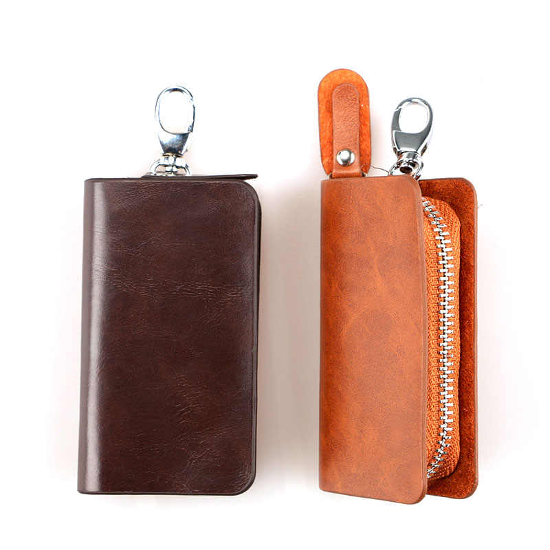 KUDIAN BEAR Vintage llavero cartera hombre sólido clave organizador bolsa coche ama de llaves cartera PU cuero BID112 PM49