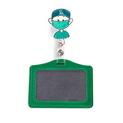 Baru Ditarik Tarik Gulungan Badge Perawat Dokter ID Nama: dengan Pemegang Kartu Kartun Plastik Pemegang Lencana Reel Dada Kartu