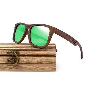Lunettes de soleil en bois Monture Foncée + Coffret