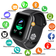2020 New D28 Smart Watch Fitness Tracker Simple Smart Watch Heart Rate Monitor Blood Pressure IP67 Waterproof for Android IOS new smart bracelet 2019 fitness tracker heart rate blood pressure monitor ip67 waterproof sports smart wristband men android ios