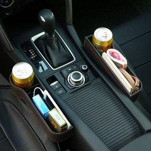 Image 4 - 革車のシートオーガナイザオーガナイザー多機能オートシートギャップフィラー収納ボックスabsシートシームポケットトランクオーガナイザー