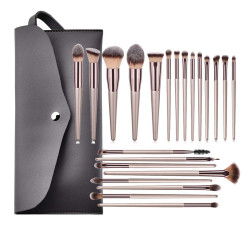 22pcs Makeup Brushes Set Eye Shadow Foundation Powder Eyeliner Eyelash Lip Make Up Brush Cosmetic Beauty Tool Kit With Bag