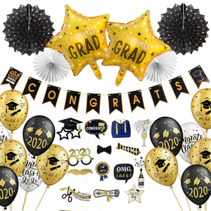Image 1 - Graduation 2020 With Latex Balloons Hanging Congrats Banner Photo Booth Props Graduation Party Decorations Favors
