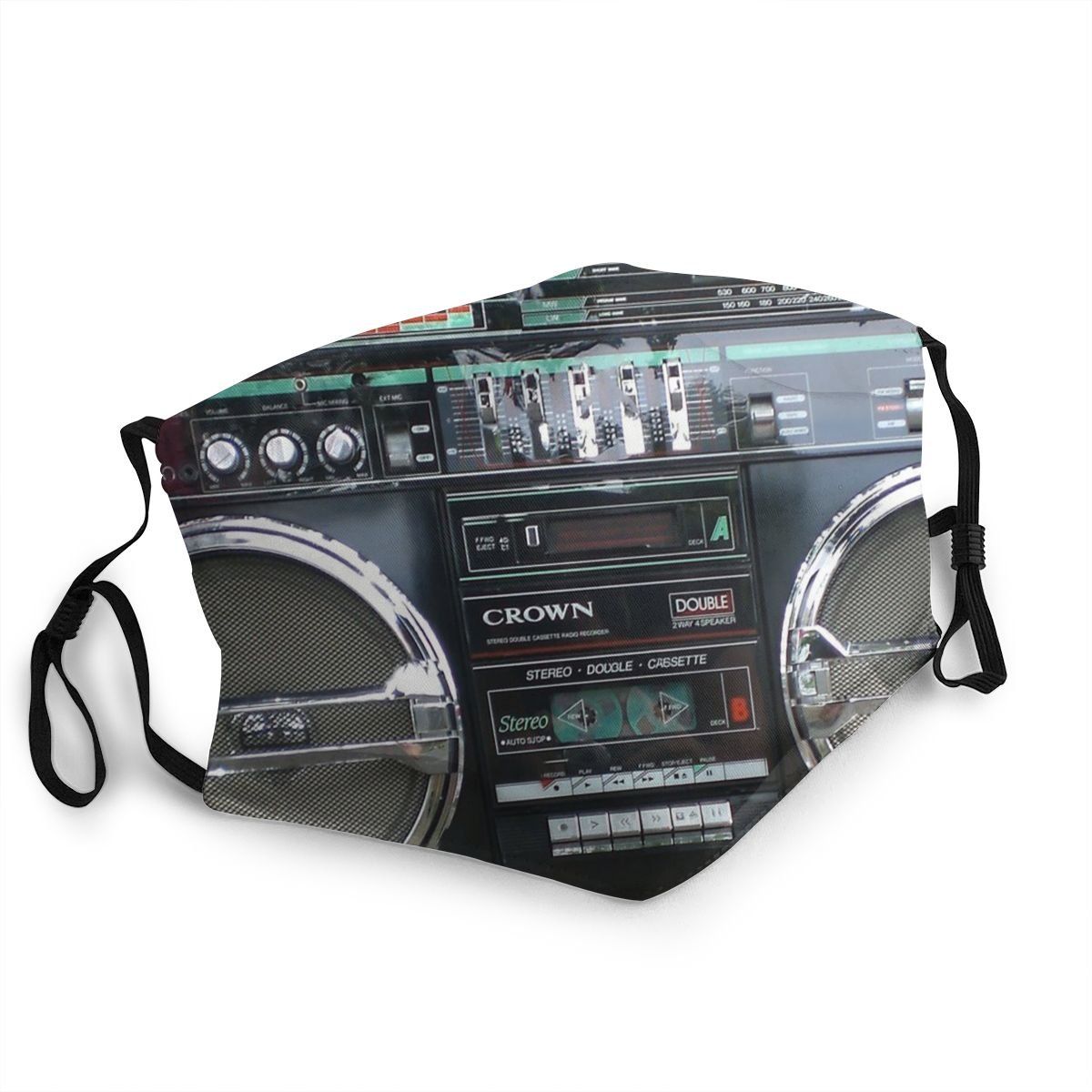 Ghettoblaster Boombox Adult Reusable Mouth Face Mask Recorder Radio Anti Haze Dustproof Protection Cover Respirator