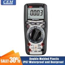 Multímetro digital, amperímetro, cem DT-965, verdadeiro rms, luz de fundo anti-queima, medidor eletricista de alta precisão, medidor universal