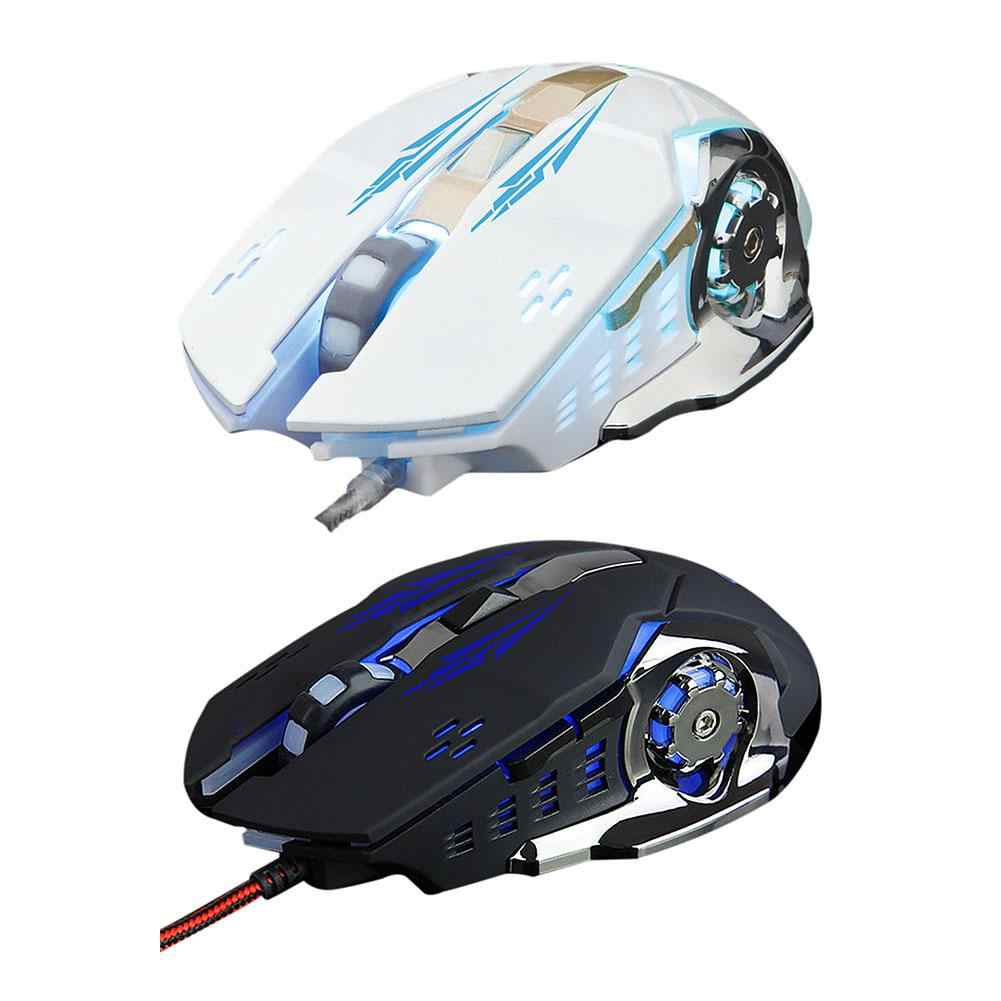 Laptop Desktop Computer Usb Wired Mouse E-Sport Weighted Gaming Mouse Luminous Four-Color Breathing Light DPI3200