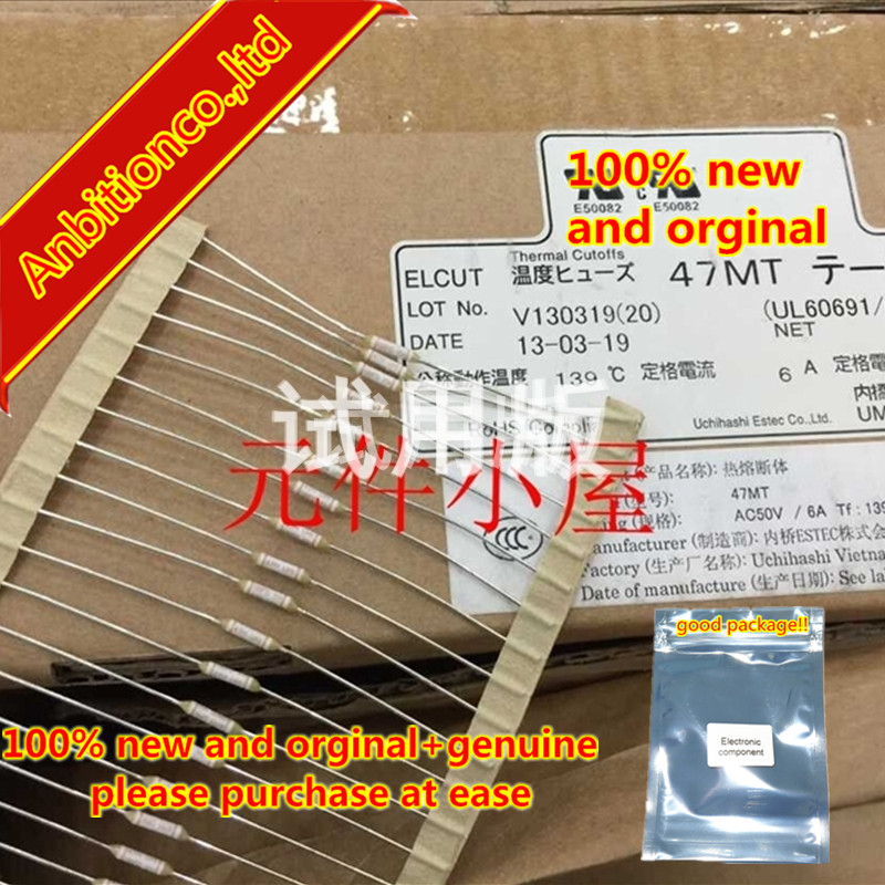10pcs 100% New And Orginal Thermal Fuse 47MT 6A 139 Degrees 50V Small Volume High Current In Stock