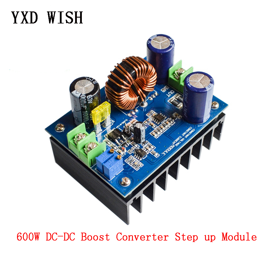 <font><b>600W</b></font> <font><b>DC</b></font>-<font><b>DC</b></font> Boost Converter <font><b>Step</b></font>-<font><b>up</b></font> Power Supply Board 10-60V to 12-80V Hight Power <font><b>DC</b></font> <font><b>DC</b></font> <font><b>Step</b></font> <font><b>Up</b></font> Module Car Power Supply image