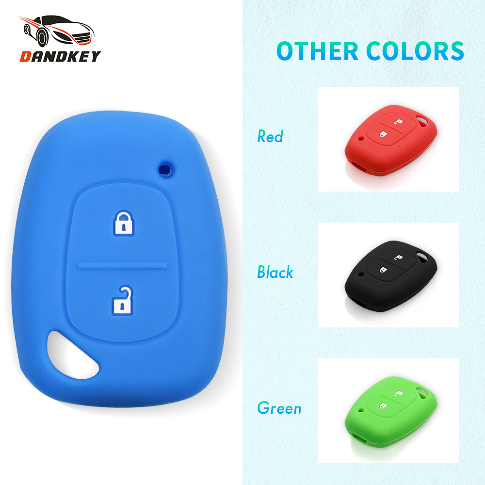 Dandkey 2 Button Silicone Remote Car Key Fob Cover Case For Renault Kangoo Traffic Master For Opel Vivaro Movano For Nissan