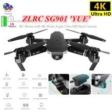 Foldable Quadcopter SG901 RC Drone with 4K 1080P WiFi FPV HD Dual Camera Follow Me Quadrocopter Toy VS E58 GD89 Dron for Kids