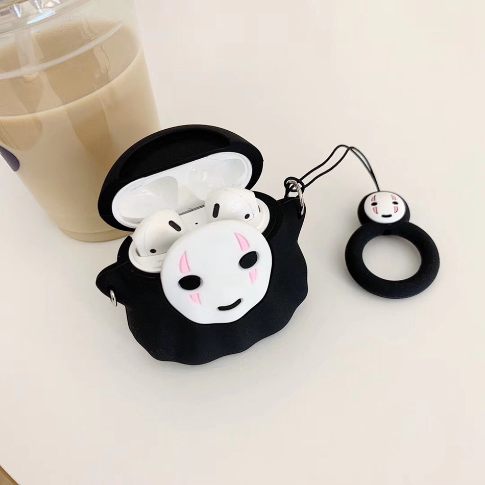 Image 4 - For AirPods Case Cute Cartoon Rabbit Pig Dumbo Earphone Case For Apple Airpods 2 Cover Soft Protect Coque with Finger Ring Strap-in Earphone Accessories from Consumer Electronics
