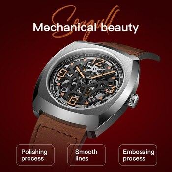 New 2021 Seagull Watch Automatic Mechanical Men's Watch Zodiac Bull Head Memorial Watch Concept Watch Skull Watch 6094 2
