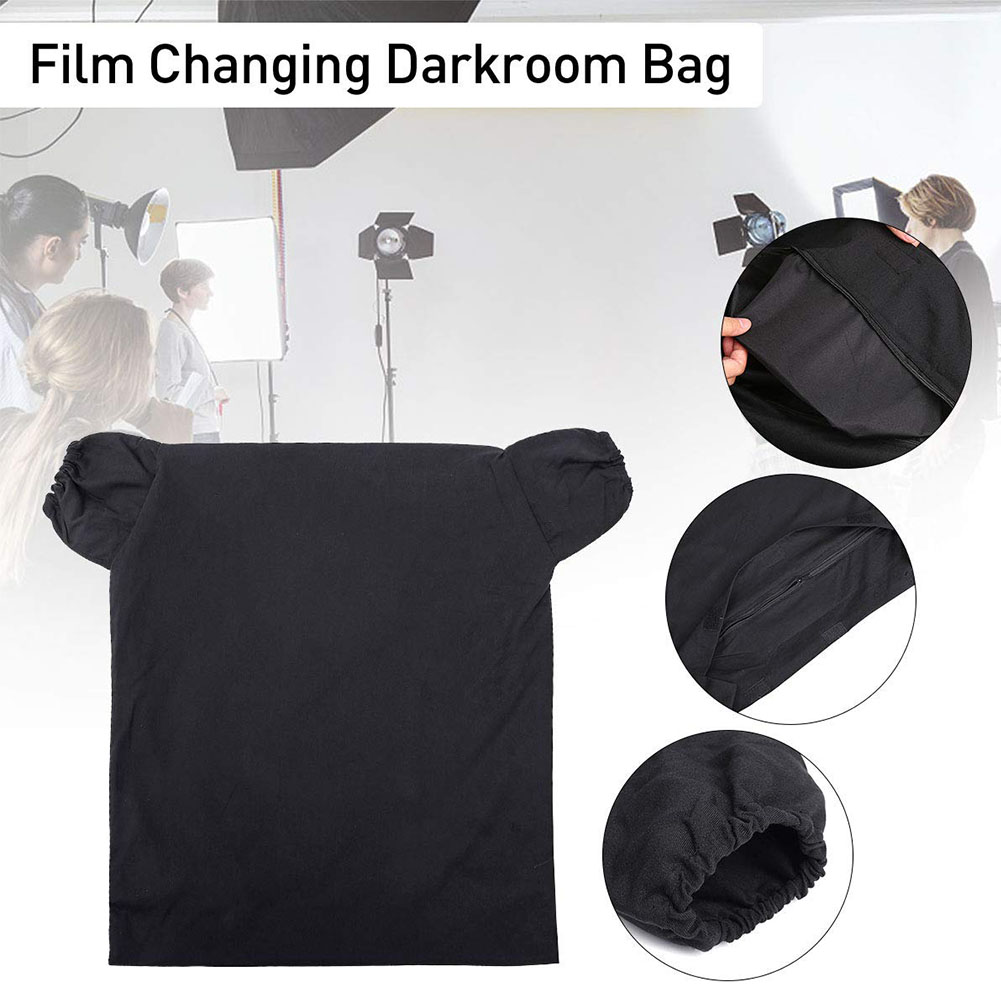 Zipper Film Changing Darkroom Bag Easy Clean Dual Layer Load Photo Anti Reflection Anti Static Photography Portable Professional