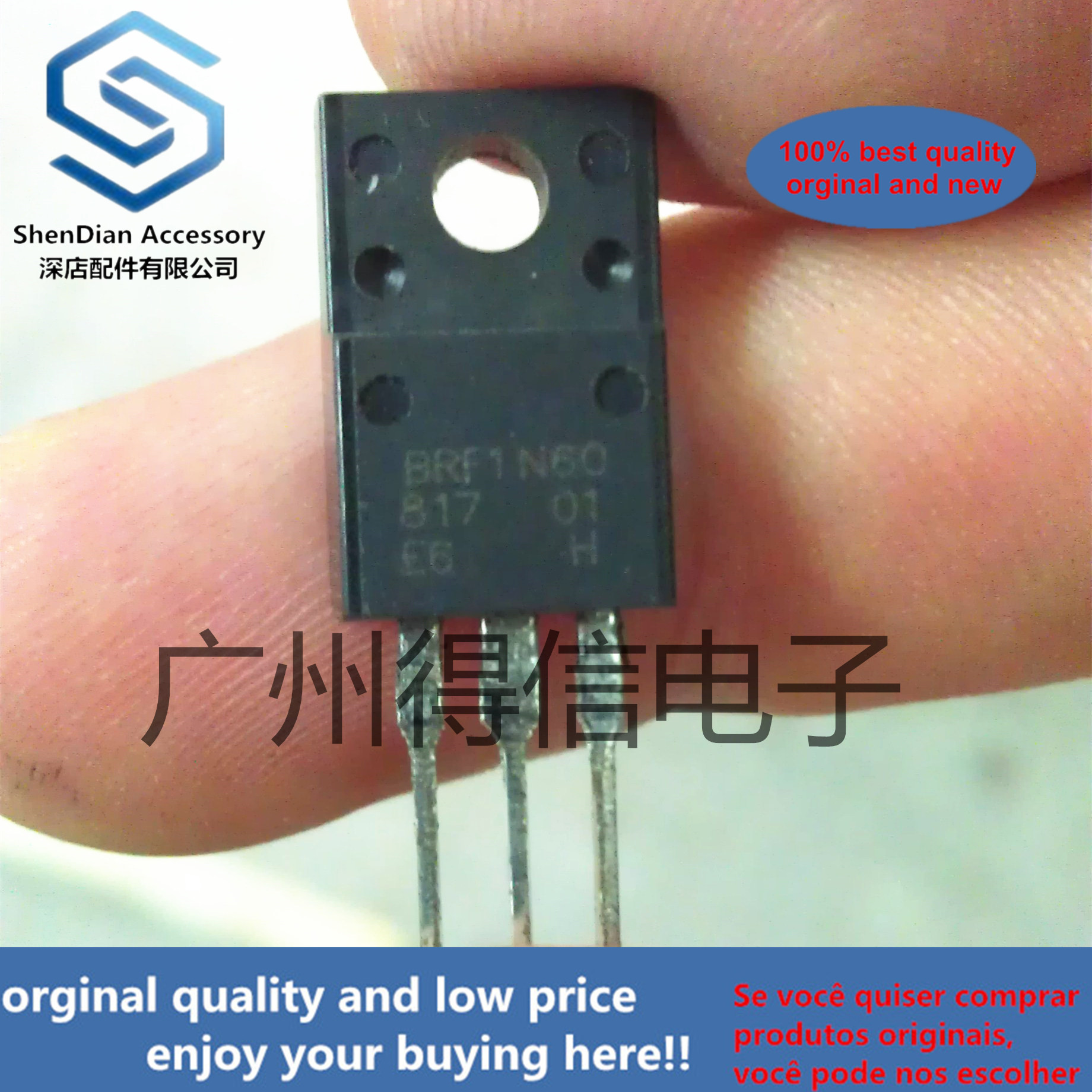 10pcs 100% Orginal New BRF1N60 1N60 MOS TO-220F N-CHANNEL MOSFET In A TO-220F Plastic Package Real Photo
