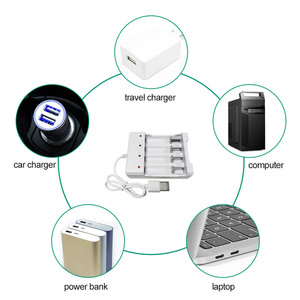 Image 5 - PUJIMAX אוניברסלי USB פלט 4 חריץ סוללה מטען מתאם עבור AA / AAA סוללה נטענת מטען מהיר סוללה טעינה כלים