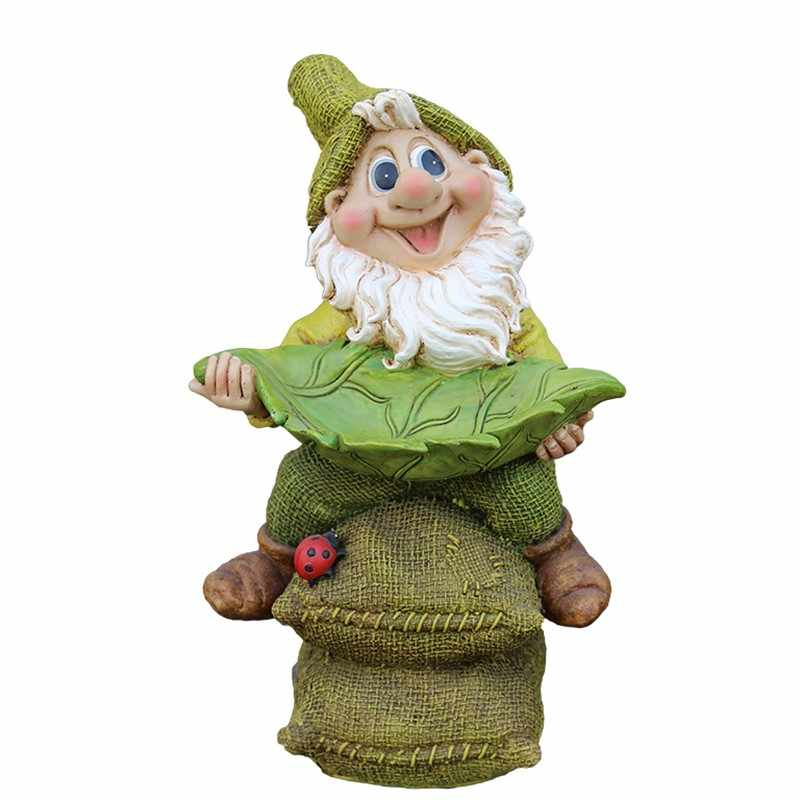 Poly Resin Garden Gnome Figurine