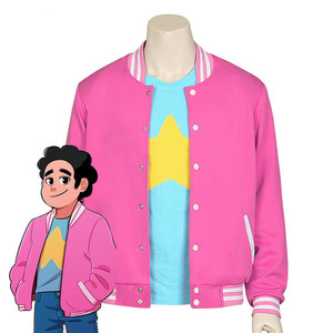 new Anime Steven Universe cosplay Steven Quartz Universe high quality 1:1 coat jacket shirt Short sleeve adult casual outfit(China)