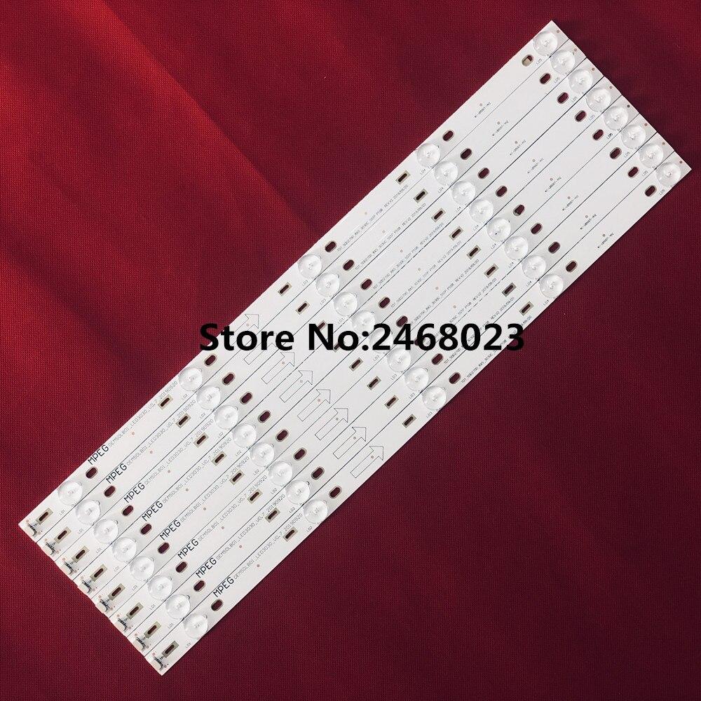 1lot=8pieces LED Backlight Strip Lamp For TCL L50F3800A Led Strip 4C-LB500T-YH2 TOT-50D2700-8X5-3030C-5S1P