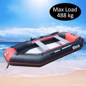 4 Person 300cm PVC Fishing Boat Inflatable Rowing Ship Hovercraft Kayak Dinghy Canoe Drifting Raft Sailboat Surfing Sailing B фото