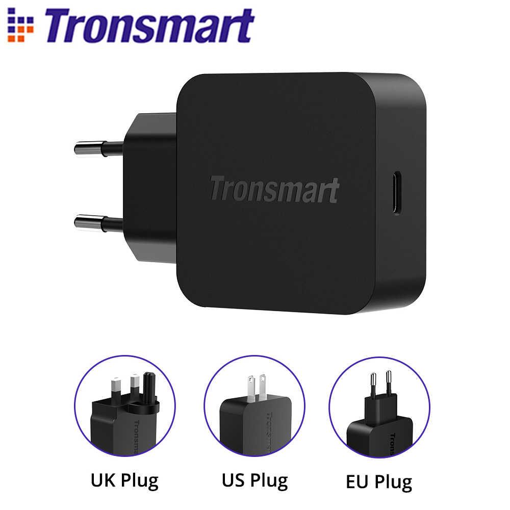 Tronsmart WCP01 PD شاحن 18W سريعة تهمة 3.0 تسليم السلطة 3.0 USB نوع-C الهاتف شاحن آيفون ، huawei, xiaomi