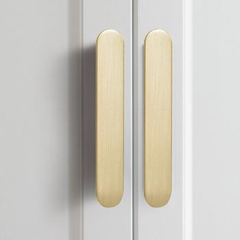 Europejskie drzwi do szafy aluminiowy uchwyt cynkowy złoty czarny szary prosta w jednolitym kolorze uchwyt drzwiczek szafki meble amerykańskie uchwyt Hardcase tanie i dobre opinie Woodworking Ze stopu cynku NONE CN (pochodzenie) Meble uchwyt i pokrętła Modern hand-in-hand Cabinet door drawer Zinc alloy