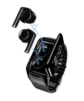 M7 Smart Watch with Earphone BT5.0 Support Bluetooth Calls Heart Rate Monitor Smartwatch Headphones Men Presale