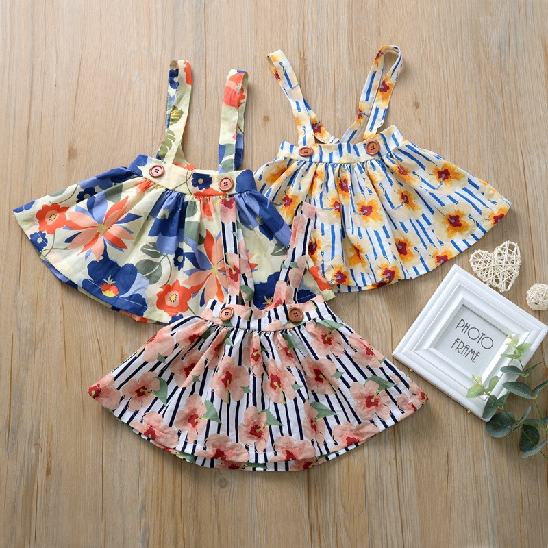2020 New <font><b>Summer</b></font> Babys <font><b>Dress</b></font> Toddler Girls <font><b>Summer</b></font> Princess <font><b>Dress</b></font> Printing Flower Kids <font><b>Baby</b></font> Party Wedding Sleeveless Girls <font><b>Dresses</b></font> image