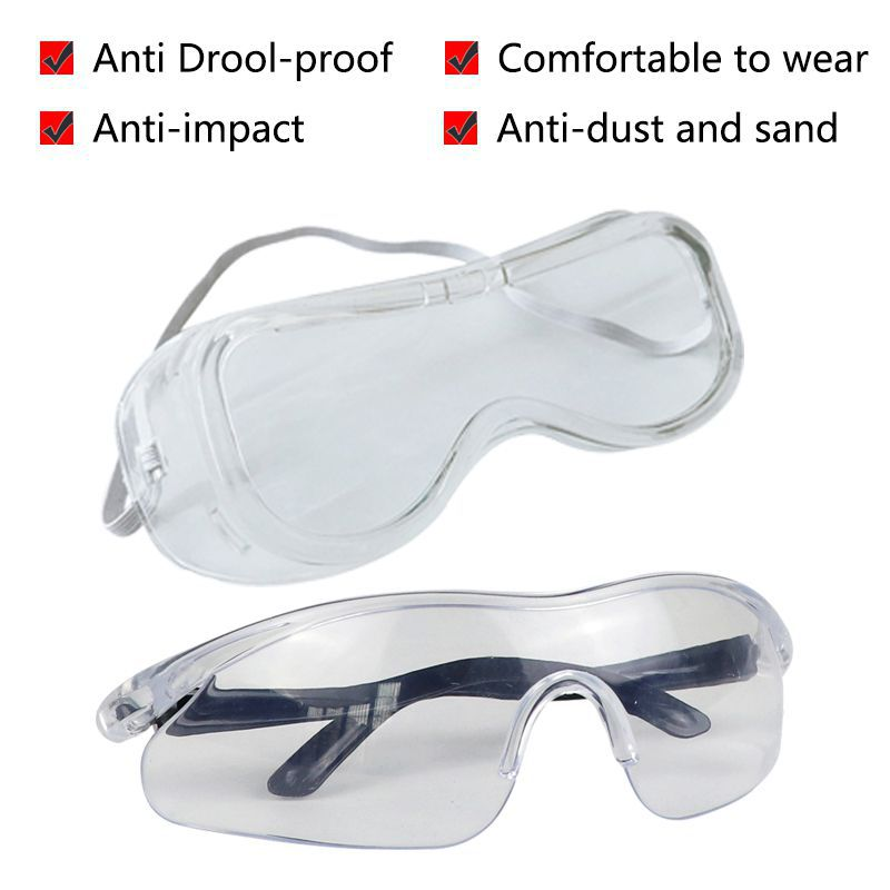 Protective Safety Glasses Anti-dust Droplets Adjustable Eyewear Anti Drool-proof Windproof Tactical Labor Protection Glasses