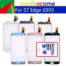"Original 5.5 ""สำหรับ Samsung Galaxy S7 EDGE G935F G935 SM G935F G935FD G935A TOUCH SENSOR เปลี่ยนแผงกระจกไม่มีจอ LCD"