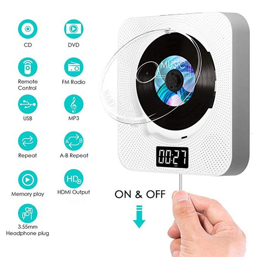 Lecteur DVD/CD Portable BT lecteur de musique CD mural avec télécommande HDMI pour TV maison CD Boombox