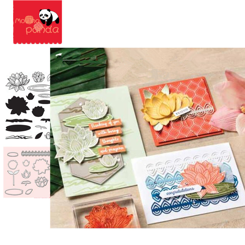 MP051 LOVELY LILY Metal Cutting Dies And Stamps New 2019 For Card Making Scrapbooking Embossing Craft Dies