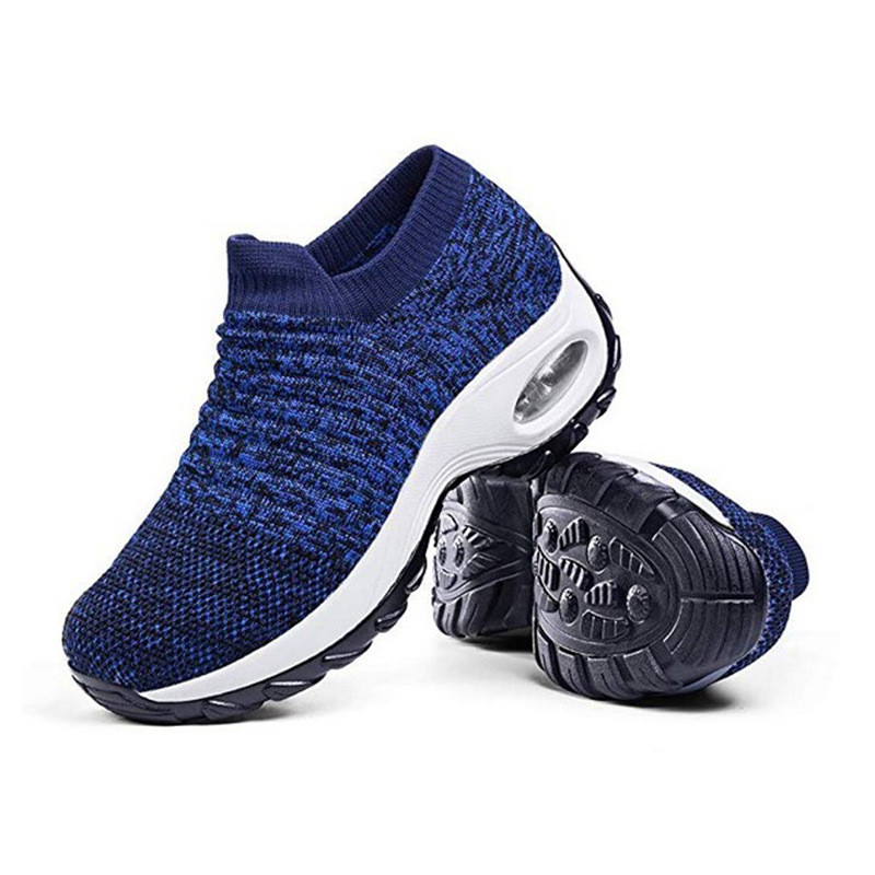 Fashion Shake Air Cushion Shoes Sports Shoes Large Size Female Casual Wild Knitted Socks Shoes