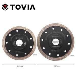 Image 2 - TOVIA 115mm/125mm Diamond Circular Saw Blades Cutting Granite Stone Porcelain Ceramic Tile Saw Disc Thin Saw Blades