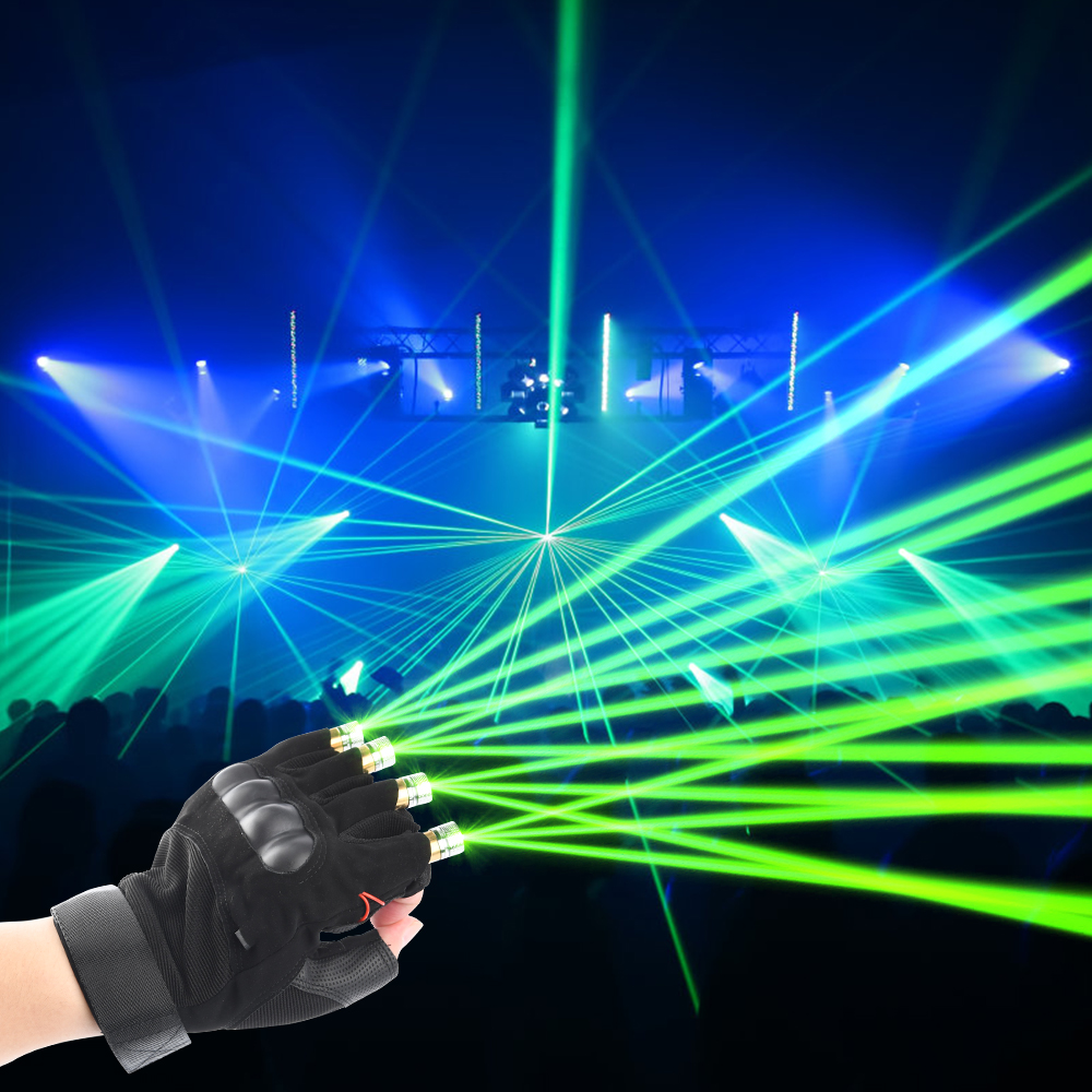 Purple Red Green Laser Gloves Novetly Stage Light Christmas Decorations For Home DJ Party Show With Rechargeable LED Palm Light