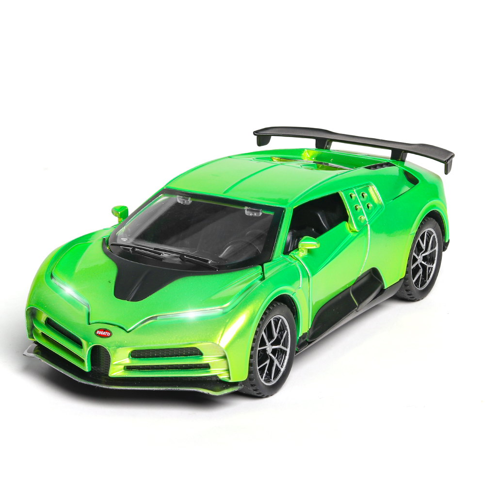 1/32 Diecast New Car Model Bugatti Centodieci Metal Toy Wheels Sports Car Sound Light Pull Back Car Collection Kids Gifts