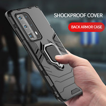 Back Shockproof Phone Case For Samsung Galaxy A21S A51 Note 20 Plus 10 Lite A10S A20S M11 M21 M31 Ring Holder Cover Armor Case(China)